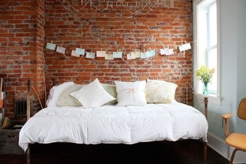 Wonderful Ezposed Brick Walls Bedroom Design Ideas 40