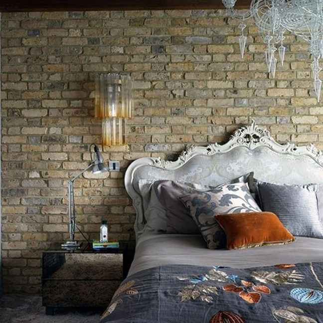 Wonderful Ezposed Brick Walls Bedroom Design Ideas 41