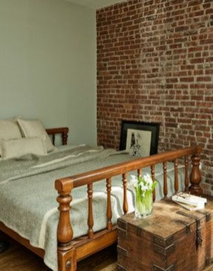 Wonderful Ezposed Brick Walls Bedroom Design Ideas 49
