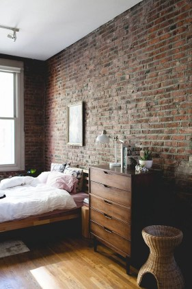 Wonderful Ezposed Brick Walls Bedroom Design Ideas 51