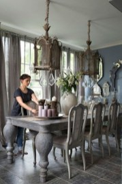 Amazing French Country Dining Room Table Decor Ideas 02