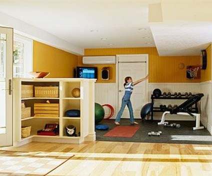 Cheap Home Gym Decorating Ideas For Small Space 44