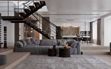 Perfect Living Room Staircase Design Ideas 04