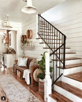 Perfect Living Room Staircase Design Ideas 35