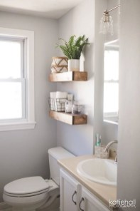 Stunning Bathroom Storage Shelves Organization Ideas 04