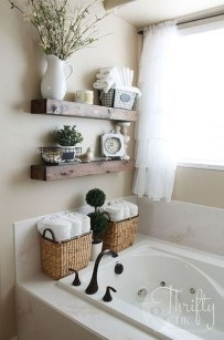 Stunning Bathroom Storage Shelves Organization Ideas 20