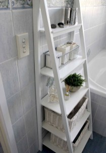 Stunning Bathroom Storage Shelves Organization Ideas 28