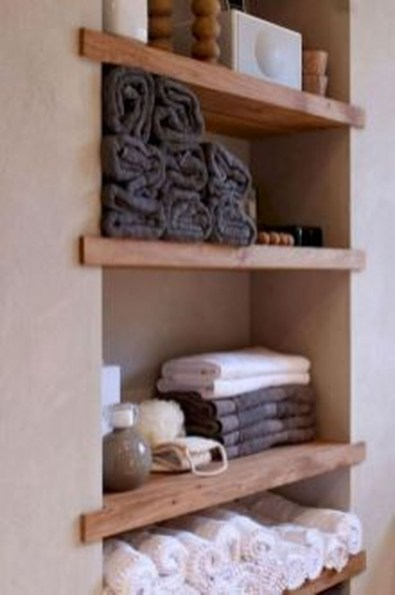 Stunning Bathroom Storage Shelves Organization Ideas 42