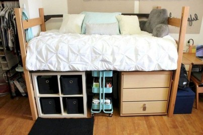 Unique Dorm Room Storage Organization Ideas On A Budget 38