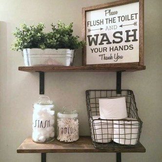 Wonderful Farmhouse Bathroom Decor Ideas 09