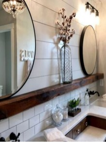 Wonderful Farmhouse Bathroom Decor Ideas 48