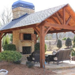 Wonderful Outdoor Fireplace Design Ideas 24