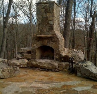 Wonderful Outdoor Fireplace Design Ideas 27