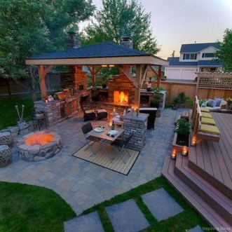 Wonderful Outdoor Fireplace Design Ideas 35
