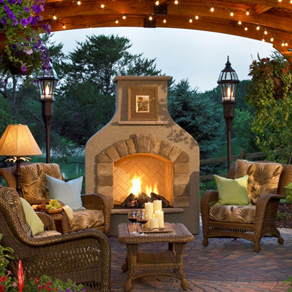 Wonderful Outdoor Fireplace Design Ideas 36