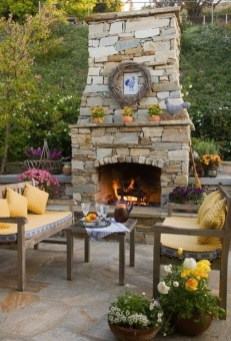 Wonderful Outdoor Fireplace Design Ideas 43