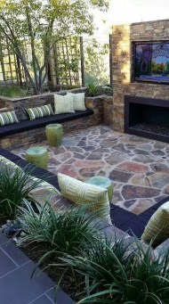 Wonderful Outdoor Fireplace Design Ideas 45