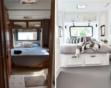 Wonderful Rv Camper Van Interior Decorating Ideas 24