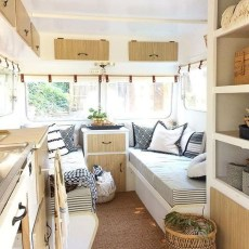 Wonderful Rv Camper Van Interior Decorating Ideas 34