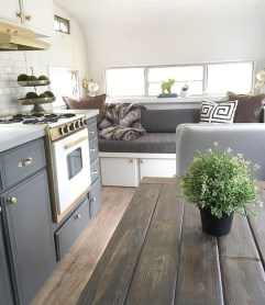 Wonderful Rv Camper Van Interior Decorating Ideas 51