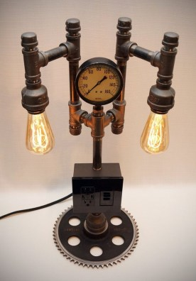Cool Diy Industrial Pipe Lamps Ideas 06