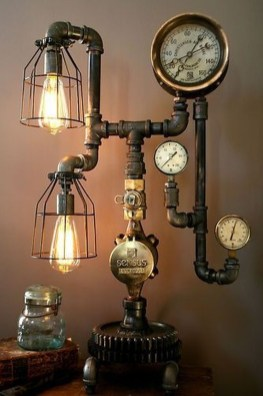 Cool Diy Industrial Pipe Lamps Ideas 09