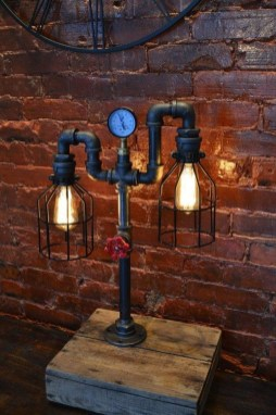 Cool Diy Industrial Pipe Lamps Ideas 52