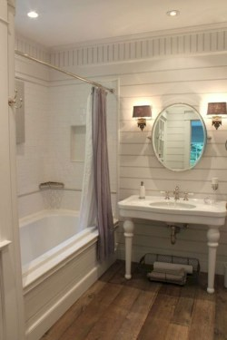 Elegant Farmhouse Bathroom Wall Color Ideas 06