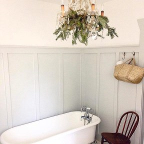 Elegant Farmhouse Bathroom Wall Color Ideas 49