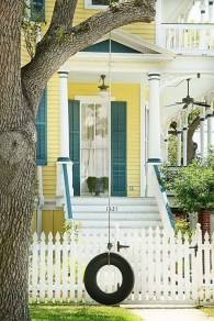 Flawless Exterior House Paint Ideas With Yellow Colors 14