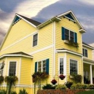 Flawless Exterior House Paint Ideas With Yellow Colors 23