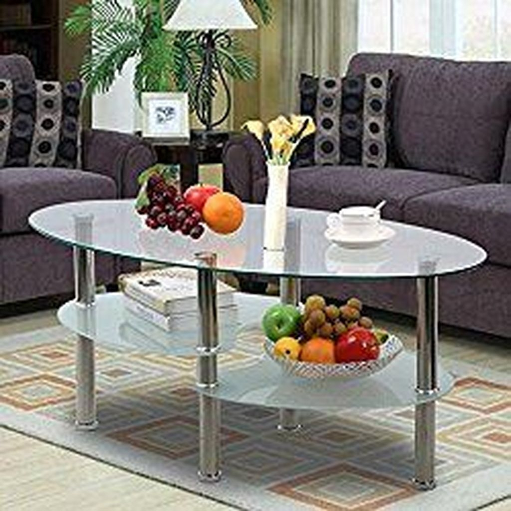 Marvelous Glass Coffee Tables Ideas For Living Room 08