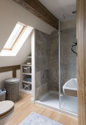 Modern Attic Bathroom Design Ideas 06