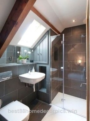 Modern Attic Bathroom Design Ideas 33