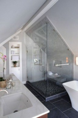 Modern Attic Bathroom Design Ideas 43
