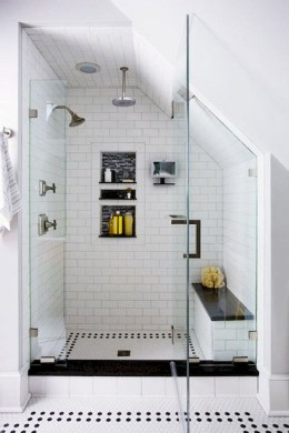 Modern Attic Bathroom Design Ideas 48