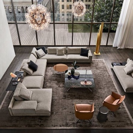 Relaxing Large Living Room Decorating Ideas 54