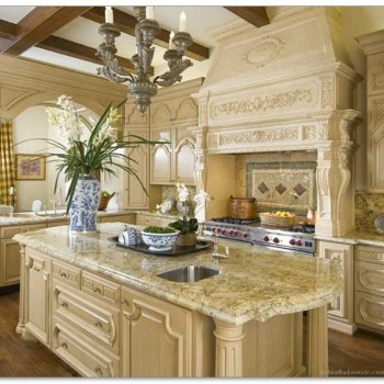 Stylish French Country Kitchen Decor Ideas 43