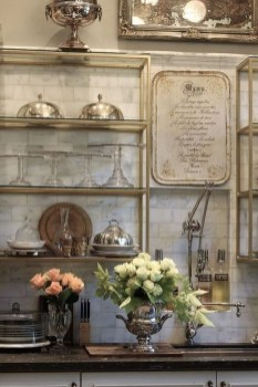 Stylish French Country Kitchen Decor Ideas 44