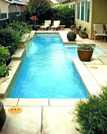 Amazing Natural Small Pools Design Ideas For Backyard 37