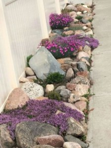 Brilliant Rock Garden Landscaping Ideas For Front Yard 37