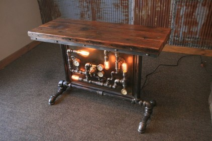 Cool Industrial Table Design Ideas 51