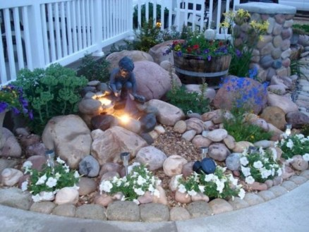 Fantastic Front Yard Rock Garden Ideas 09