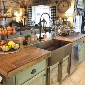 Stunning Country Farmhouse Design Ideas For Kitchen 11