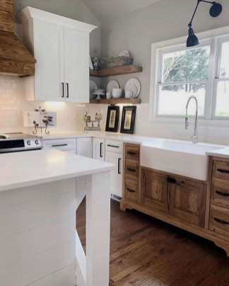 Stunning Country Farmhouse Design Ideas For Kitchen 27