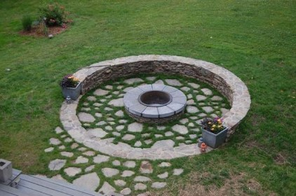 Creative Build Round Firepit Area Ideas For Summer Nights 11