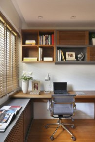 Lovely Small Home Office Ideas 24