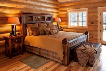Comfy Wooden Cabin Bedroom Design Ideas For Summer Holiday 29