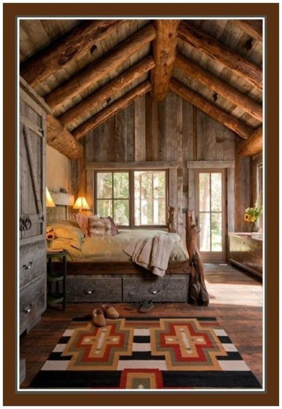 Comfy Wooden Cabin Bedroom Design Ideas For Summer Holiday 41