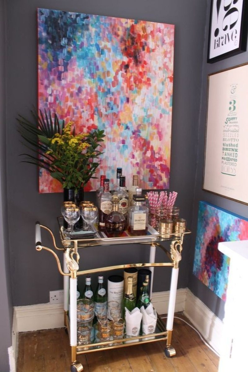 Elegant Mini Bar Design Ideas That You Can Try On Home 16